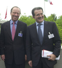 Stephan Schmidheiny e Romano Prodi