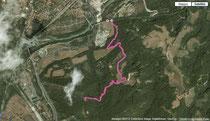 Percorso effettuato visto da Google Earth