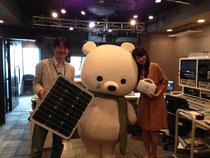 昨年は平井理央さんと一緒にナノ発電所を撮影