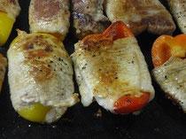 鉄板プレス料理肉巻き野菜鉄板焼き