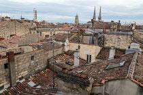 Ausblick aus dem Hotel in Bordeaux.