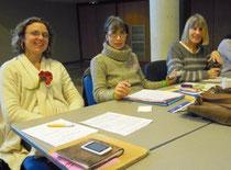 Johanna, Cathy, Marielise à Carcassonne