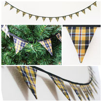 Cornish tartan mini bunting fbarig flags banner garland decoration