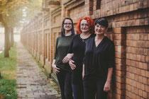 unser Team von links nach rechts: Friseurmeisterin Sandra Adam, Friseurin Sandra Dannat, Friseurin Christina Brack