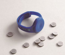 finger ring dosimeter for Hp(0.07) with MCP-Ns (LiF:Mg,Cu,P) or MTS-N (LiF:Mg,Ti)