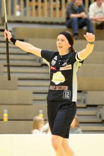 Die Zugerin Priska von Rickenbach bejubelt ihr Last-Minute-Tor (Bild: www.zugunited.ch)