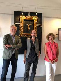 Stadtrat Dr. Günter Riegler besuchte die Ausstellung von Christoph Urban  in der Galerie JO