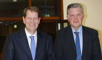 Gero Storjohann MdB und der CEO von Femern A/S Claus Baunkjaer in Berlin