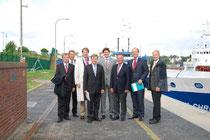 Die CDU-Landesgruppe mit Vertretern der Wasser- und Schifffahrtsdirektion Nord