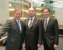 v.l.n.r. Ingo Gädechens MdB, Hartmut Hamerich CDU Landtagsfraktion Kiel und Ingbert Liebing MdB