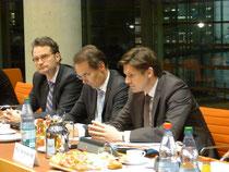 vlnr.: Dr. Günter Krings, Ingbert Liebing und Dr. Ole Schröder