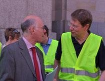 Gero Storjohann und Norbert Lammert bei der Eröffnung der Fahrradtour