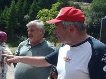 Herbert Pölz (r) als Navigator zeigt Alois Kücher (l) wo es lang geht. ;-) Image: E. Diestinger