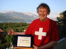Anerkennung für den ersten schweizer Teilnehmer in Robregordo: Ralph Kunz