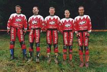 1999: Trial der Nationen Luxenburg, 5. Platz in der 2. Klasse, 2 Stunden zusätzliche Fahrzeit um gemeinsam fahren zu können. vlnr: R. Brandauer, F. Schlögl, M. Mempör, M. Adamec, W. Leitner. Archiv Adamec.