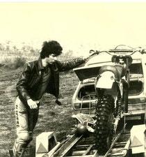 1981: Braun beim Motocross in Siegendorf. Image: Archiv Braun