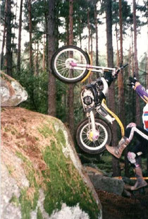 1997: Spektakulärer Abstieg beim Training in Friedreichs. Image: Archiv Braun