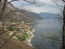 Am Rückweg von Caglio: Der Comer See, Blick auf Bellagio. Image: Alfred