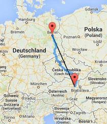 Nach Westen in den Osten. Image: www.luftlinie.org