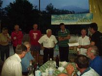 Italienische Trialpioniere: Dario Seregni, Gianfranco Mulatero, Giovanni Tosco, Giulio Mauri, Aldo Allione, Maurizio Magni