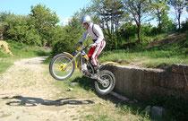 2008: Endlich reichten Mut und Fahrtechnik, um von der Stufe zu Springen