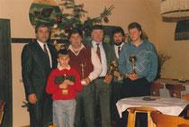 1987: Adamec Racing Team: Markus 2.vl, Herbert 3. vl, Adi 2. vr. Archiv Adamec.