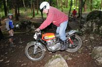 Walter Gsöll fuhr am Sonntag auf Honda CB200 Twin! Image: Christian Kovar