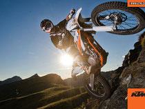 KTM Freeride, mit Trialansätzen. Image: www.ktm.com
