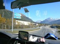 Anreise durch die Schweiz, über St. Moritz. Image: E. Diestinger