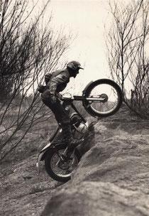 1976: Erbler auf Montesa 250 . Archiv: Erbler