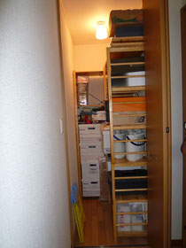 納戸も整理収納でスッキリ