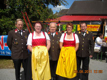 Im Bild: HBM Manfred Gerstl, Marianne Gerstl, EOBI Johann Dörr, Lieselotte Mistelbauer, BR Engelbert Mistelbauer, leider nicht am Bild LM Karl Allinger