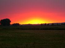 Sonnenuntergang auf der Halbinsel Mönchgut/Lobbe