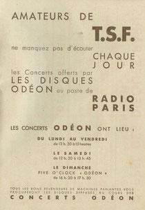 Supplément Odéon d'avril 1931