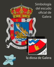 Escudo oficinal de Galera (Granada) - la diosa de Galera