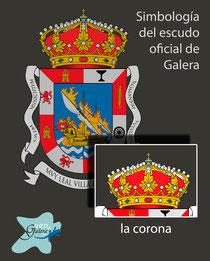 Escudo oficinal de Galera (Granada) - la corona