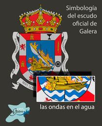 Escudo oficinal de Galera (Granada) - las ondas de agua