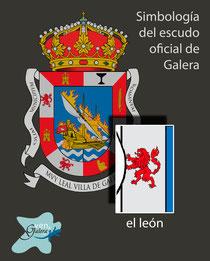 Escudo oficinal de Galera (Granada) - los leones