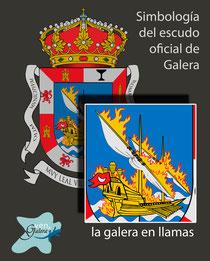 Escudo oficinal de Galera (Granada) - la galera