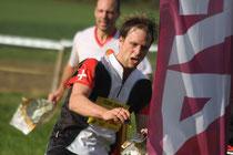 Marc Eyer an der OL Team Meisterschaf, im Hintergrund Thierry Matthey