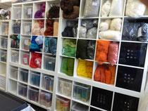 Filzwolle in vielen bunten Farben und Qualitäten