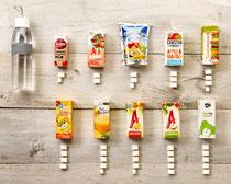 Zie hier de hoeveelheid suiker per product