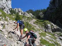 Abstieg über den Gelbwandsteig