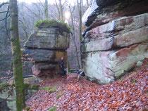 Nicht nur Max war begeistert von diesem Fels
