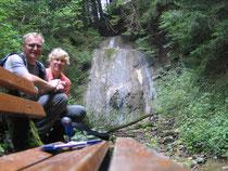 Schöner Wasserfall auf dem Rückweg