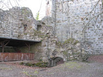Im Innenhof der Ruine