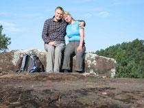 Rast auf der Ruine Backenstein