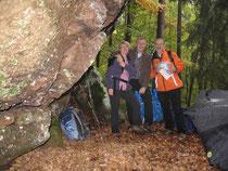Schöne Tour durch den Herbstwald