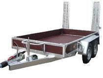 Baumaschinentransporter, Baggertransporter, Gabelstapler, Staplertransporter, Gabelstaplertransportanhänger