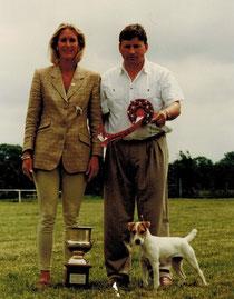 Clivia by Windrush, Klubsieger 1996 mit Ihrem Herrchen und Frau Lindenberg